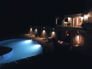 Pool at Nighttime